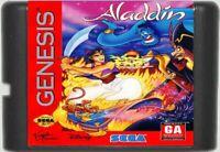 Disney's Aladdin (1993) 16 Bit Game Card For Sega Genesis / Mega Drive System