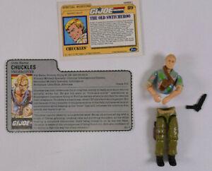 Vintage 1987 Hasbro GI Joe Chuckles Action Figure w/Shoulder Harness and Gun