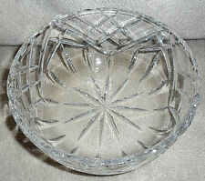 """Goebel Crystal Bowl Made In Germany Signed 7"""" W X 3 1/4"""" T Cut Design Mint!"""