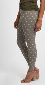 Agnes and Dora XS Textured Dots Gray Leggings Womens Sz SM 0-2 - NWT