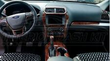 FORD EXPLORER SPORT XLT LIMITED INTERIOR BURL WOOD DASH TRIM KIT SET 2016 2017