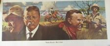 """1971 WINCHESTER RIFLE THEODORE ROOSEVELT MODEL 94 COMMEMORATIVE 28"""" POSTER"""