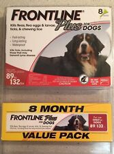 Frontline Plus For Dogs 89-132 lbs (8 month supply)