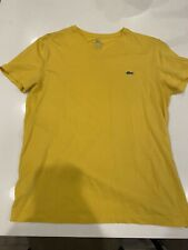Lacoste Men's Yellow T-Shirt Size 3