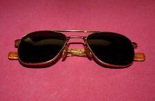 Vintage AO American Optical 5 1/2 Pilot Aviator Military Sunglasses Glasses