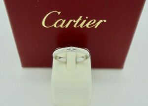 Authentic Cartier 1895 Diamond Platinum Wedding Band Ring 50 with CoA RRP$2,040