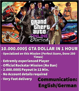Gta 5 10.000.000$ Dollar Boost (PS4) Money Cash Boost