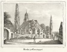 CONSTAPPEL (KLIPPHAUSEN) - ST. NIKOLAUS-KIRCHE - Lithografie 1837