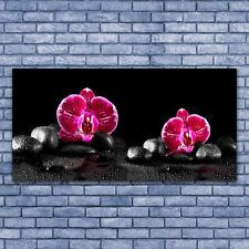 Tableau Impression Image sur Plexiglas® 140x70 Floral Fleurs Pierres