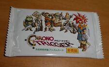 CHRONO TRIGGER SUPER FAMICOM SFC PROMO FOIL PRISM CARD BOOSTER PACK SEALED JAPAN