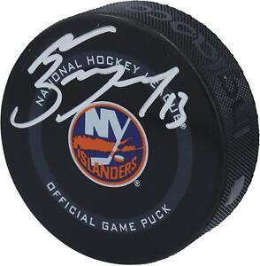 Mathew Barzal New York Islanders Autographed 2021 Model Official Game Puck