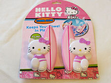 Hello Kitty Beach Towel Clips Keeps Your Towel In Place Pink White 10006T