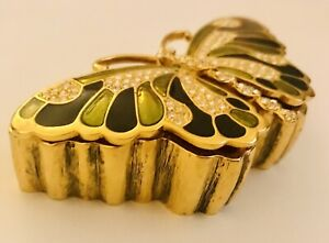 Kenneth Jay Lane Butterfly Pin AND Box made in Thailand
