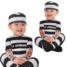 Lil' Law Breaker Prisoner Jail Bird Inmate Baby Infant Costume (6-12 months)