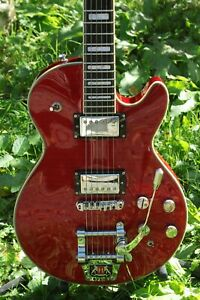 2010 Hagstrom Super Swede Tremar 6 String  Electric Guitar Wild Cherry Excellent