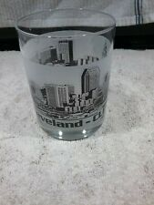 WATER/JUICE GLASS WITH CLEVELAND OHIO SKYLINE EXCELLENT PRE-OWNED CONDITION