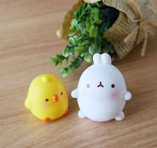 Molang & Piu Piu Mini Figures 2EA Set Collectible Figurine Cute Rabbit Toy