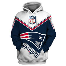 New England Patriots Hoodies Casual Hooded Sweatshirts Pullover Fans Jacket Coat