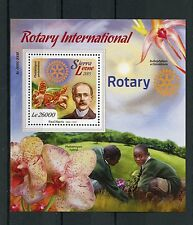 Sierra Leone 2015 MNH Rotary Int & Orchids 1v S/S Paul Harris Flowers Stamps