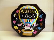2003 Embossed 3D Bassett's Balloon Tin Liquorice Allsorts Raised Artwork Empty