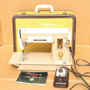 Vintage 1956 Singer 301A Slant Needle Sewing Machine CLEAN in CASE WORKING