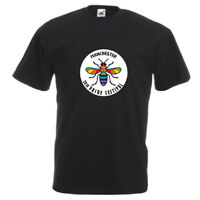 Manchester Pride Bee LGBT Rainbow t shirt Adults Unisex Fashion Top FDC