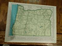 1942 Railroad Map of Oregon With A Railroad Map of Pennsylvania On The Reverse