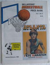 "1990 Jan/Feb ""Dellaferas' Basketball Price Guide"", 31 pages, Hall of Famers"