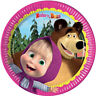 MASHA AND THE BEAR SMALL PAPER PLATES (8) ~ Birthday Party Supplies Cake Dessert
