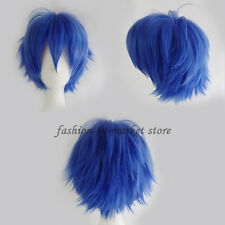 Men's Short Layered Synthetic Hair High Temperature Fiber Cosplay Full Wig Brown