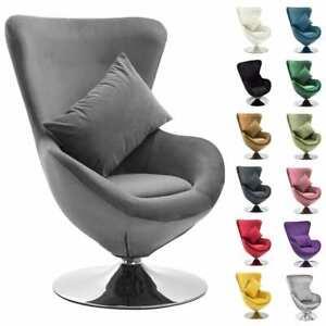 vidaXL Drehstuhl Ei-Form Samt Sessel Drehsessel Loungesessel mehrere Auswahl