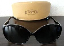 TOD'S TO 0055 01B Luxus Damen Sonnenbrille Brille Sunglasses Black NEU mit ETUI