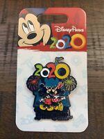 New 2020 Disney Parks Disneyland Mickey & Minnie Fireworks & Castle Trading Pin