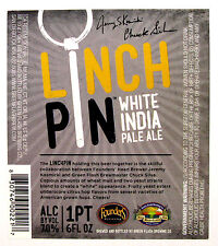 Green Flash Brewing LINCHPIN beer label San Diego CA  22oz Collaboration