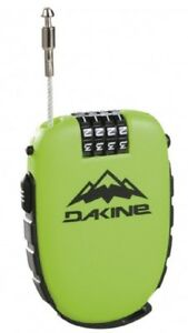 2020 DAKINE SNOWBOARD SKI BICYCLE 4 DIGIT COMBINATION COOL LOCK  GREEN 10001562