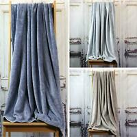 Fleece Throw Blankets Soft Velvet Cosy Warm Marl Sofa Bed Throws 130cm x 180cm