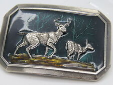 Vintage 1976 Great American Buckle Co USA Limited Edition #520 Deer Buckle E