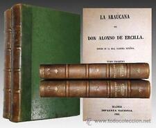 1866 - LA ARAUCANA de ALONSO DE ERCILLA - Cronicas de la Conquista Americana