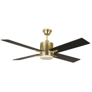 "Craftmade 52"" Teana Ceiling Fan, Satin Brass - TEA52SB4"