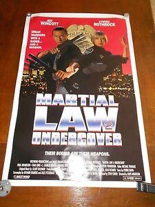 MARTIAL LAW 2(1991)CYNTHIA ROTHROCK ORIGINAL 1 SHEET POSTER ROLLED