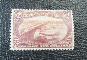 nystamps US Stamp # 293 Mint OG H $1800   J15x1624