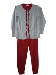 Damen Pyjama-Set Nachtwäsche Rot 6803 Pijama Nachtwäsche Nachtanzug Schlafwäsche