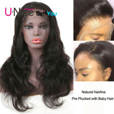 "16"" Body Wave Lace Front Human Hair Wigs 150 Density Brazilian Lace Frontal Wig"