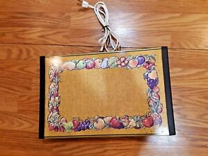 """17"""" Vintage 1970s Warm-O-Tray #60 Harvest Gold Fruit Warming Tray Tested Works"""