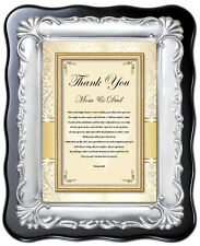 Parents Thank You Wedding Gift Poem Plaque from Bride Groom Inlaws Mom Dad Love