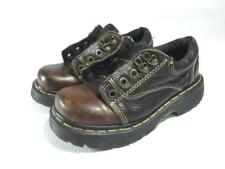 Dr Martens 8A47 womens size 4 brown chunky leather shoes made in england