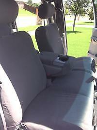 2001-2003 Ford F150 Crew Cab, Front Exact Fit Seat Covers 40/60 Split,Gray Twill