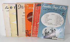Lot of 6 Vintage Wurlitzer Organ Music Books Christmas Latin American Familiar