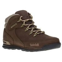 New Mens Timberland Brown Euro Rock Hiker Nubuck Boots Lace Up