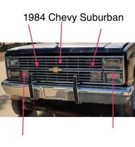 1983 1984 Chevy Pickup Suburban K5 Blazer Grill Bowtie Emblem Trim C10 K10